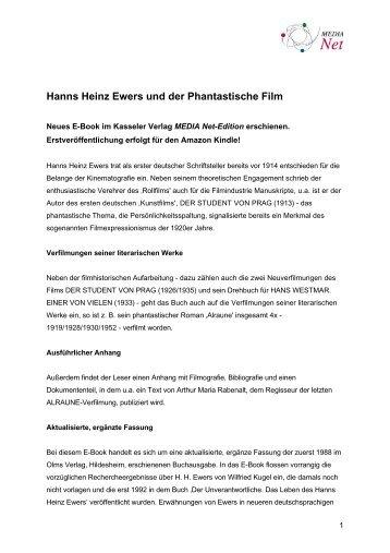 Hanns Heinz Ewers und der Phantastische Film - Medienberatung ...