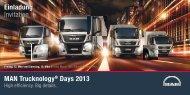 MAN Trucknology® Days 2013 Einladung Invitation - MAN Truck Forum