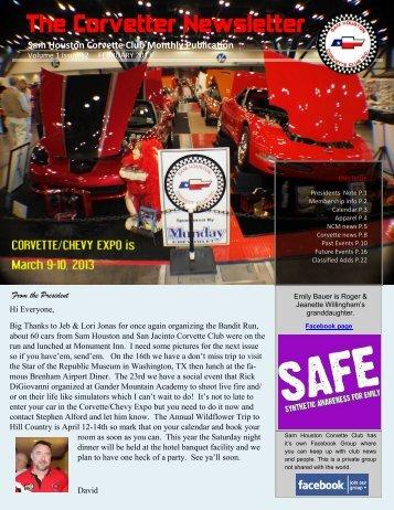 February Corvetter - Sam Houston Corvette Club
