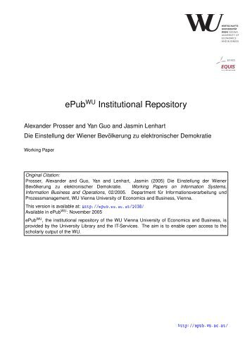 Download (1031Kb) - Electronic Publications of the WU-Wien ...