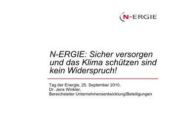 08 Herr Dr. Winkler: N-ERGIE - EnergieRegion Nürnberg e.V.