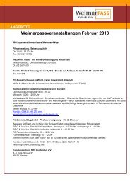 Weimarpassveranstaltungen Februar 2013