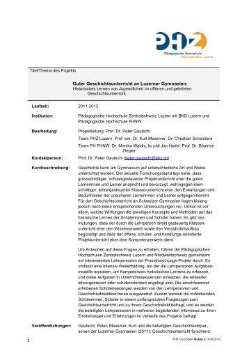 Link zu Fact-Sheet GuGeLu - Pädagogische Hochschule Luzern