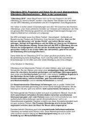 Wahlprogramm 2011 (Stichwortversion, 11 Seiten) - SPD-Ottersberg