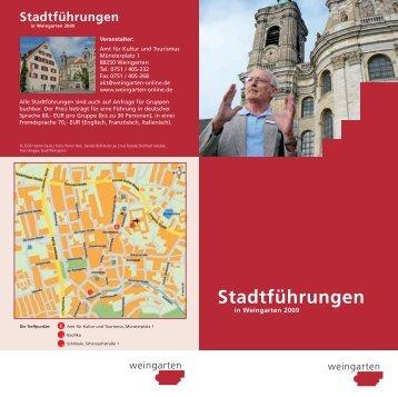 Stadtführungen - Stadt Weingarten