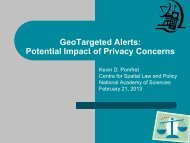GeoTargeted Alerts: Potential Impact of Privacy Concerns