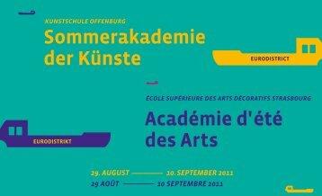 Académie d' été des Arts Sommerakademie der Künste - esads