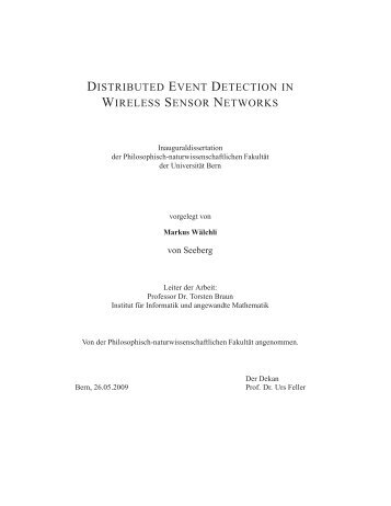 distributed event detection in wireless sensor networks - IAM - CDS ...