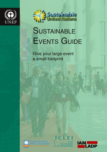 SUSTAINABLE EVENTS GUIDE - ICLEI World Congress