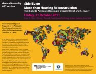Side Event More than Housing Reconstruction Friday, 21 October ...