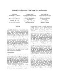 Semantic Event Extraction Using Neural Network Ensembles
