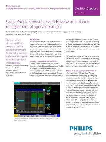 Using Philips Neonatal Event Review to enhance management of ...