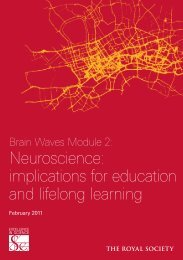 Neuroscience: implications for education and ... - The Royal Society