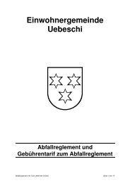 Einwohnergemeinde Uebeschi - Gate24.ch