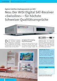 Neu: Der WISI Digital SAT-Receiver «Swissline ... - Gasser Elektro