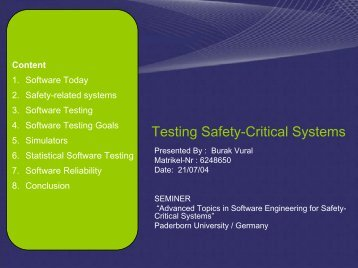 Testing Safety-Critical Systems