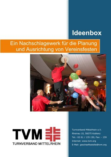 TVM - Ideenbox - Turnverband Mittelrhein