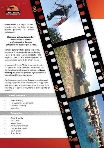 Scarica la nostra brochure in pdf - Event Media