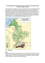 1 The Runoff Regime of the River Rhine and its ... - CHR-KHR