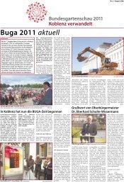 Buga 2011 aktuell - Bundesgartenschau Koblenz 2011