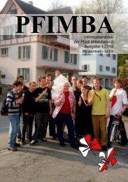 PFIMBAInformationsblatt der Pfadi Mittelrheintal Ausgabe 1/2010 ...