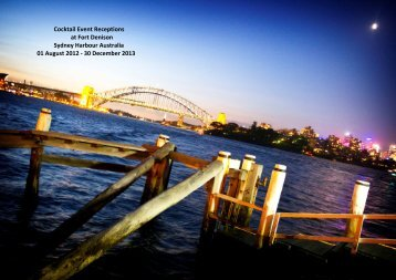 Exclusive Cocktail Event packages 01 August 2012 ... - Fort Denison