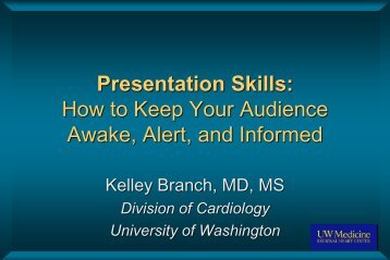 Presentation Skills: How to Keep Your Audience Awake, Alert, and ...