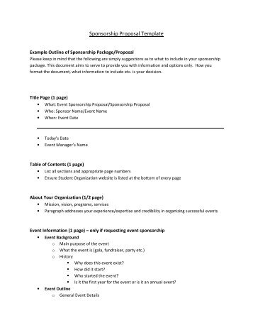 How To Write A Sponsorship Proposal Bc Athlete Voice
