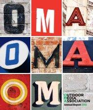 Annual Report2011 - Outdoor Media Association
