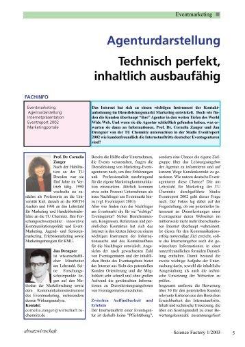 Agenturdarstellung Technisch perfekt, inhaltlich ... - Absatzwirtschaft