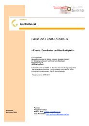 Fallstudie Event-Tourismus - Eventkultur.lab