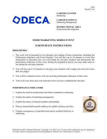 Deca Events  Food Marketing