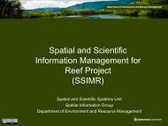 Spatial and Scientific Information Management for Reef ... - Data Smart