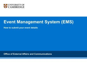 Event Management System (EMS)