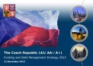 The Czech Republic (A1/AA-/A+)
