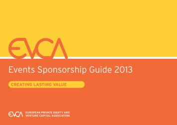 Events Sponsorship Guide 2013 - EVCA