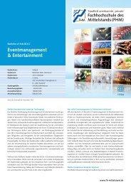 (BA) Eventmanagement & Entertainment - Fachhochschule des ...