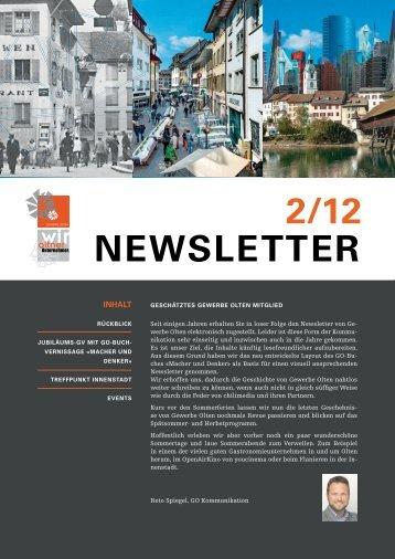NEWSLETTER 2/12 - Gewerbe Olten