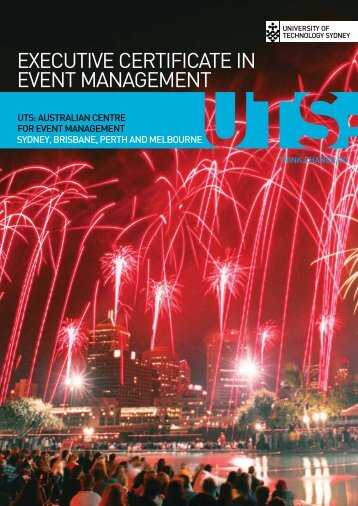 executive certificate in event management - UTS:Business ...