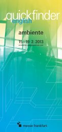 Download: Quickfinder - Ambiente - Messe Frankfurt