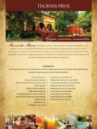 Descarga aquí nuestro Fact Sheet - Hacienda Misné