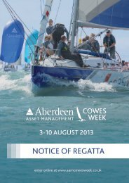 Notice of Regatta for Aberdeen Asset Management ... - Cowes Week