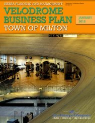 Sierra Planning and Management Velodrome - Town of Milton