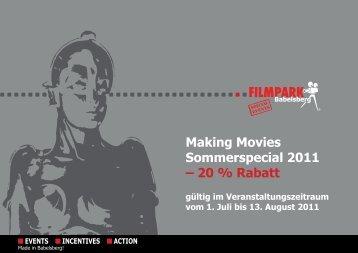 Making Movies Sommerspecial 2011 – 20 % Rabatt - Meet Berlin