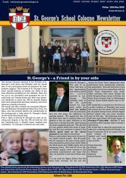 St. George's School Cologne Newsletter - St. George's - The English ...