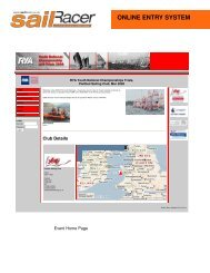 Online Entry System Overview Document - SailRacer