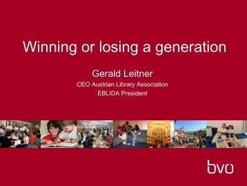 Winning or loosing a generation - IFLA