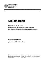 Diplomarbeit Entwicklung einer Lösung für integrierte Aufzeichnung ...
