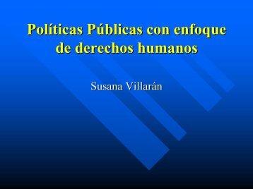 Políticas Pol ticas Públicas P blicas con enfoque de derechos humanos