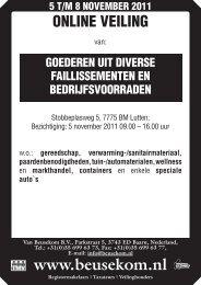 +31(0)35 699 63 73, Fax: +31(0) - Veiling - Van Beusekom
